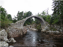 NH9022 : Old Bridge of Carr by Anne Burgess