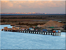 TQ7076 : Aggregates Jetty at Cliffe Fort by David Dixon