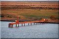 TQ7077 : Pipeline Pier near Cliffe by David Dixon