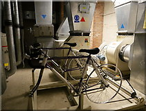 NH6845 : Bicycles, Raigmore Emergency Bunker by Craig Wallace