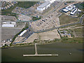 TQ4781 : Old jetty at Barking from the air by Thomas Nugent