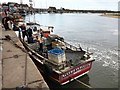 """TF9143 : Fishing boat """"NEVER CAN TELL - A"""" moored in Wells-Next-The-Sea harbour by Richard Humphrey"""