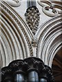 SK9771 : Head Shrine of St Hugh and the Lincoln Imp inside Lincoln Cathedral by David Hillas