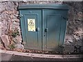SH5872 : Old electrical cabinet on  College Road, Bangor by Meirion