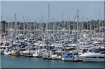 SZ3394 : Not much room at Lymington Yacht Haven by Paul Coueslant