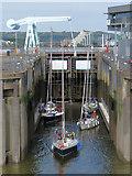 ST1972 : Lock No. 1, Cardiff Bay Barrage by Gareth James
