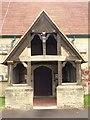 SU8236 : All Saints Church Door in Headley, Hampshire  by John P Reeves