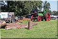 SJ4313 : Shrewsbury Steam Rally - sawing demonstration by Chris Allen