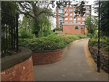 SP3165 : Library Walk and Manor Court, Leamington by Robin Stott