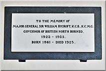 SU5846 : Dummer, All Saints Church: Sir William Rycroft memorial plaque by Michael Garlick