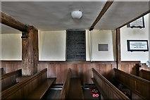 SU5846 : Dummer, All Saints Church: Underneath the Charles II gallery by Michael Garlick