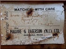 H4277 : Label from Maguire & Patterson (N.I.) Ltd. (1) by Kenneth  Allen