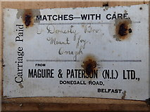 H4277 : Label from Maguire & Patterson (N.I.) Ltd. (2) by Kenneth  Allen