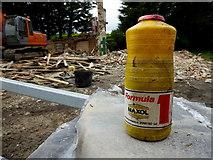 H4277 : Bottle of 20/50 high performance oil, Gortnacreagh by Kenneth  Allen