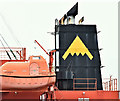 "J3778 : The ""Eco Nemesis"" (funnel), Belfast harbour (September 2019) by Albert Bridge"