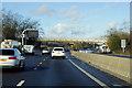 SP6263 : Northbound M1, Muscott Bridge by David Dixon