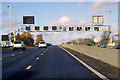 SP6165 : Sign Gantry over the M1 near to Long Buckby Wharf by David Dixon