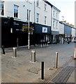 SS9079 : Metal posts across the eastern end of Caroline Street, Bridgend by Jaggery