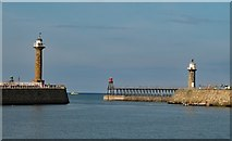 NZ8911 : Whitby : Harbour entrance by Julian Osley
