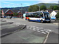 SO3013 : X43 bus arriving at Abergavenny bus station by Jaggery