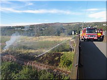 SO2408 : Lineside fire, Forge Side by Gareth James