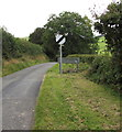 SO1073 : End of the 30 zone at the southern edge of Llanbister, Powys by Jaggery