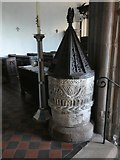 SX9192 : Norman font, St Mary Steps church, Exeter by David Smith