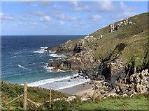 SW4237 : Porthmeor Cove by John Allan