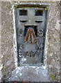 NT6526 : O/S  Bench  Mark  on  Trig  Point.  Peniel  Heugh by Martin Dawes