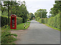 SO6902 : Red Telephone Kiosk at Halmore by David Dixon