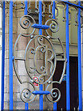 TQ2782 : Marylebone station - Great Central Railway initials on entrance gate by Mike Quinn