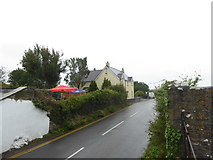 SN0403 : Looking south-southwest on the A4075 at Carew by Basher Eyre