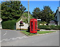 ST0167 : Grade II Listed red phonebox in Gileston by Jaggery