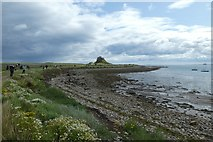 NU1341 : The Ouse and Lindisfarne Castle by DS Pugh