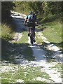 SU8018 : Cyclist on the South Downs Way by Oliver Dixon