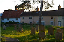TM3464 : Cottages in Rendham, from the churchyard by Christopher Hilton