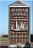 TG5307 : 19/20 Euston Road - Marine Lodge hotel (sign) by Evelyn Simak