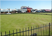 TG5307 : Bowling Greens off North Drive by Evelyn Simak