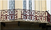 TG5307 : Terrace in Prince's Road - wrought-iron balcony railings by Evelyn Simak
