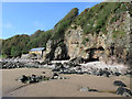 NX8854 : Brandy Cove near Portling by Andrew Curtis