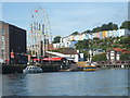 ST5772 : Flags and colours along the Floating Harbour by Neil Owen