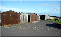 NO5201 : Wooden sheds, St Monans by Richard Sutcliffe