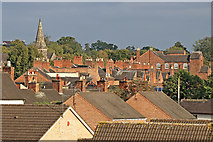 SJ8934 : Across the rooftops in Stone, Staffordshire by Roger  Kidd