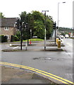 ST3091 : Pedestrian refuges at the western end of Almond Drive, Malpas, Newport by Jaggery