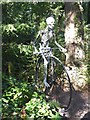 SU8739 : Sculpture of an aged cyclist by Oliver Dixon