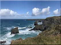SW8469 : Bedruthan Steps by John Allan