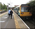 SS9079 : Vale of Glamorgan Line train, platform 1A, Bridgend station by Jaggery