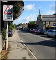 SS8974 : Warning sign - School/Ysgol, Ewenny Road, St Brides Major by Jaggery