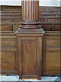 NZ2564 : All Saints Church, Pilgrim Street - column and pews by Mike Quinn