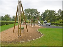 SJ8298 : Salford, play area by Mike Faherty